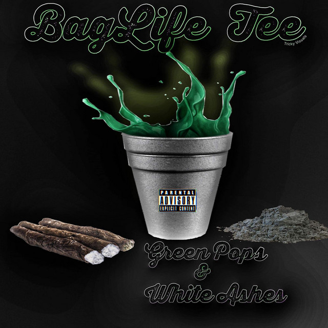 Baglife Tee – Green Pops & White Ashes