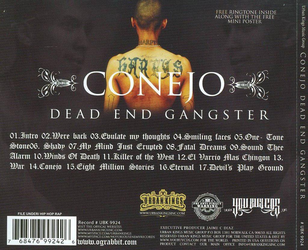 Conejo - Dead End Gangster (Back)