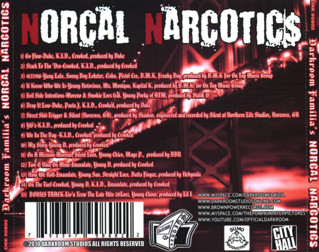 Darkroom Familia - Norcal Narcotics (Back)