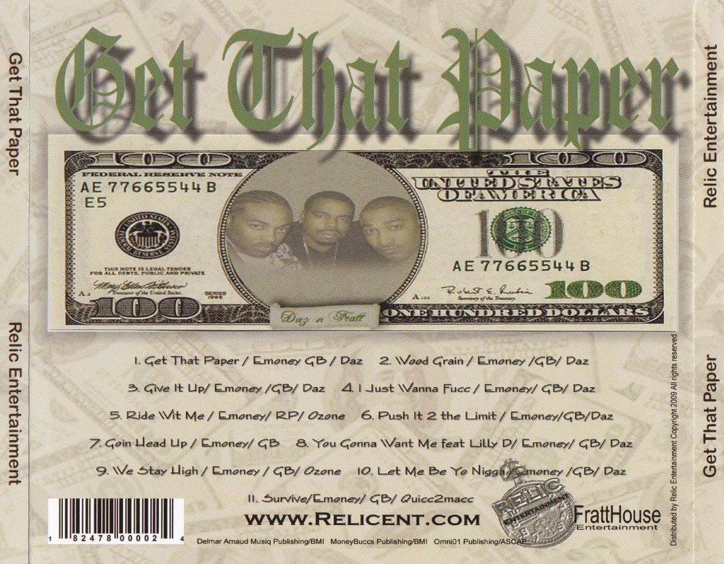 Daz & Fratthouse - Get That Paper (Back)