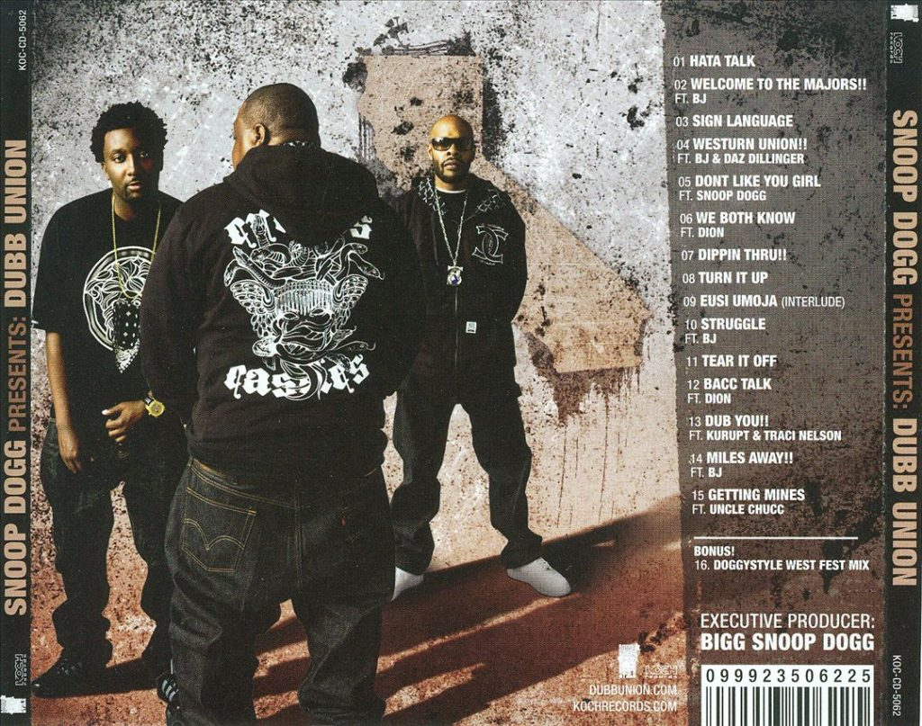 Dubb Union - Snoop Dogg Presents Dubb Union (Back)
