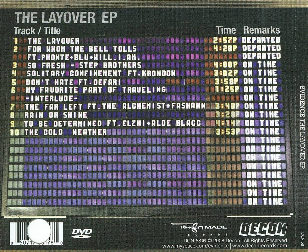 EV - The Layover EP (Back)