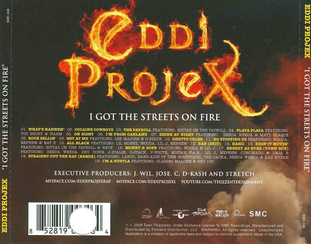 Eddi Projex - I Got The Streets On Fire (Back)