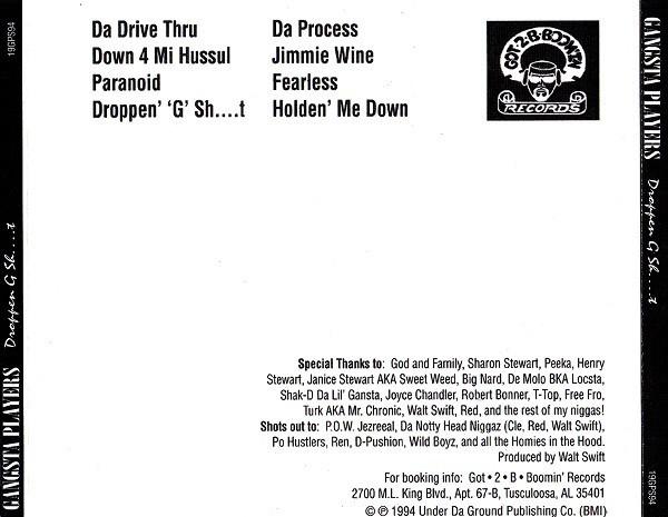 Gangsta Players - Droppen G Sh....t (Back)