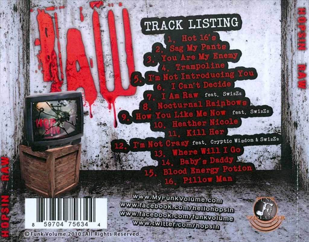 Hopsin - Raw (Back)