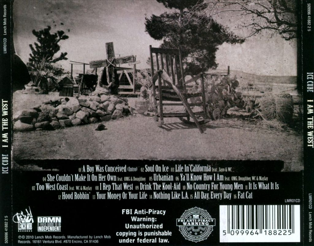 Ice Cube - I Am The West (Back)