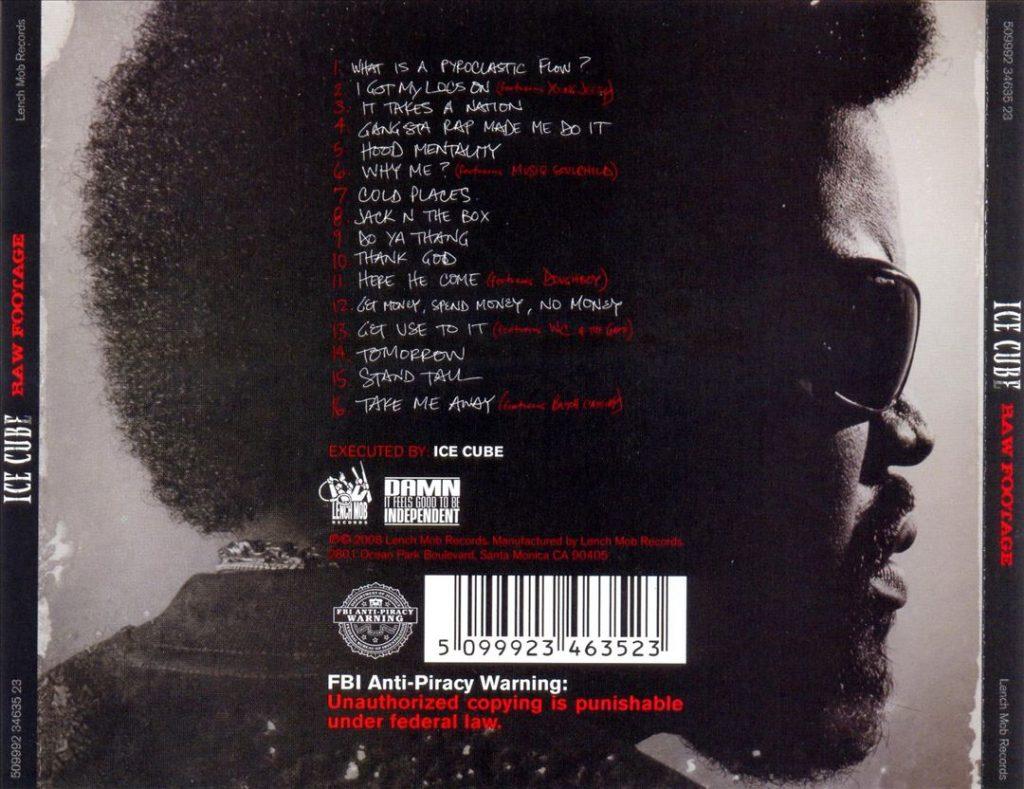 Ice Cube - Raw Footage (Back)