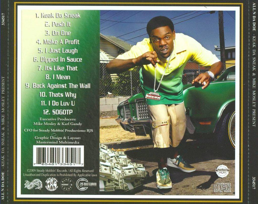 Keak Da Sneak & Mike Mosley - All N Da Doe (Back)