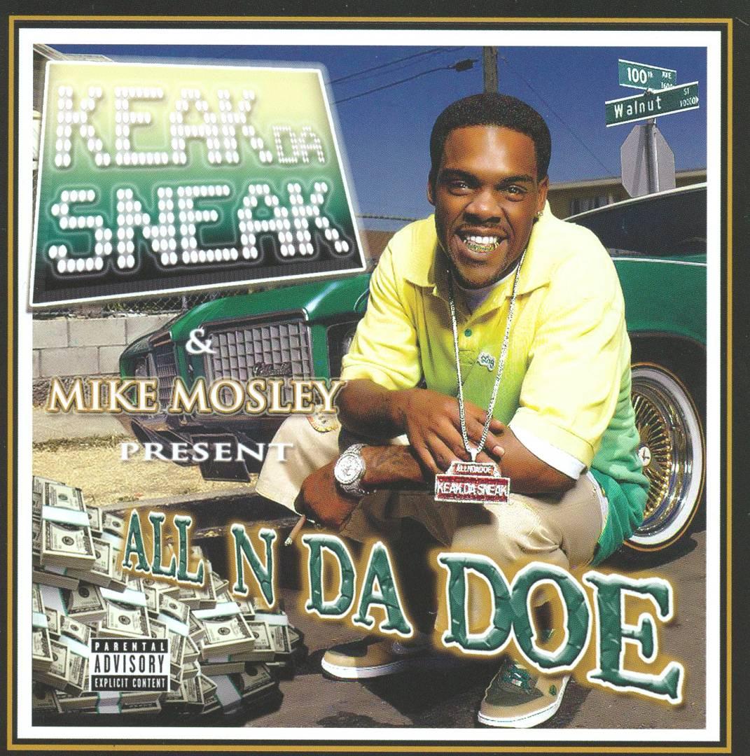Keak Da Sneak & Mike Mosley - All N Da Doe (Front)
