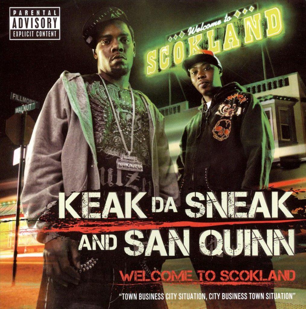 Keak Da Sneak & San Quinn - Welcome To Scokland (Front)