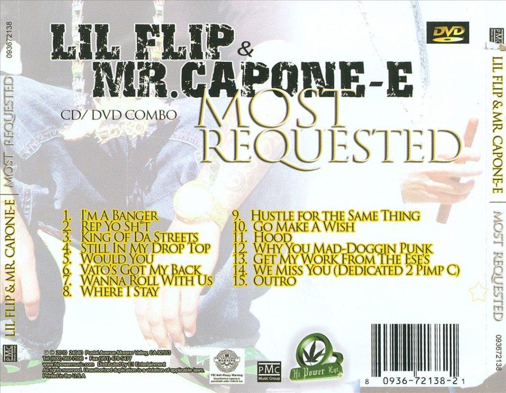 Lil' Flip & Mr. Capone-E - Most Requested (Back)