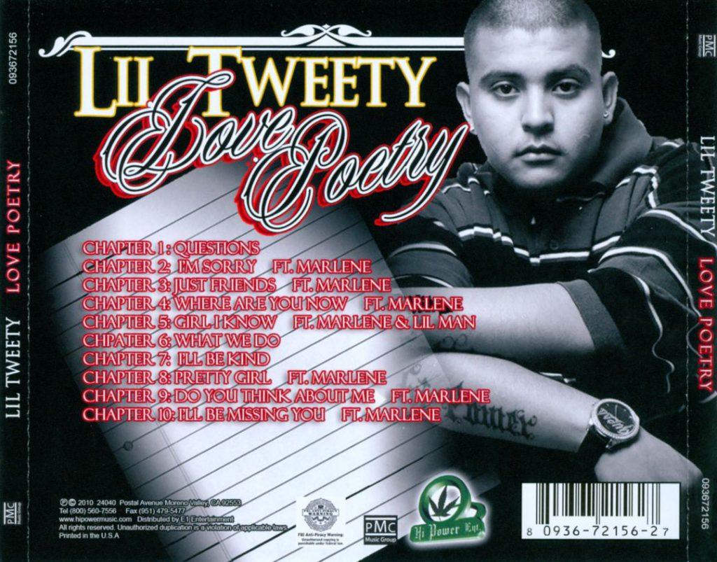 Lil Tweety - Love Poetry (Back)