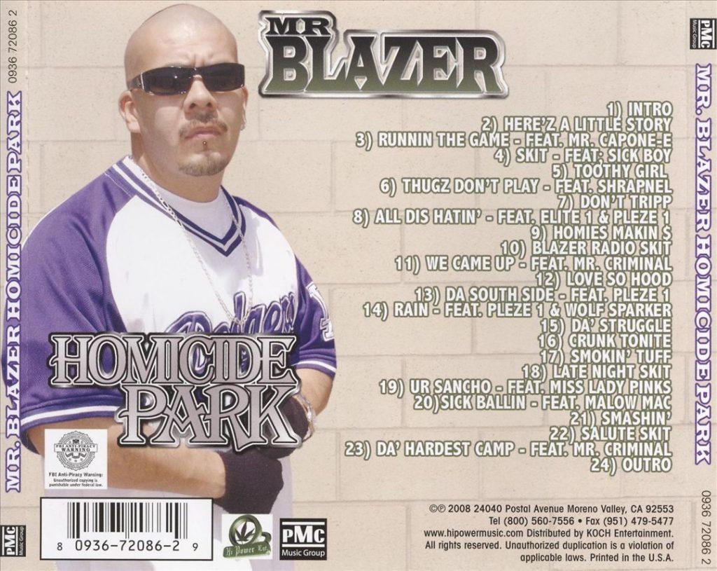 Mr. Blazer - Homicide Park (Back)