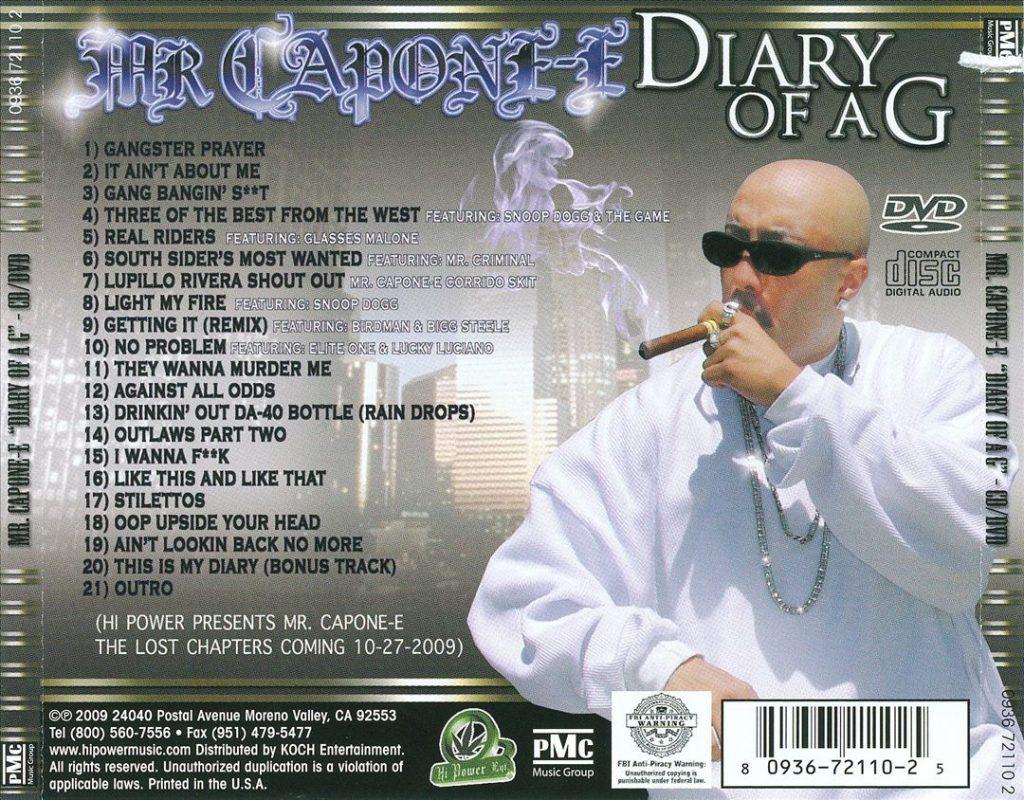 Mr. Capone-E - Diary Of A G (Back)
