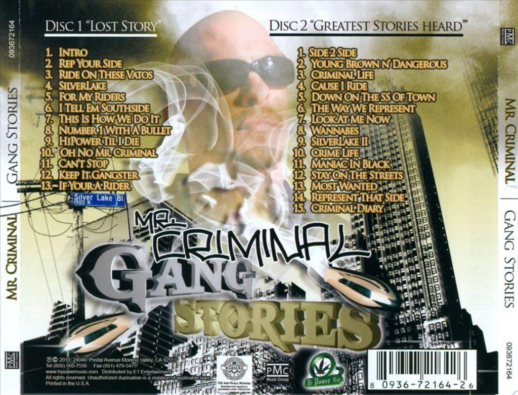 Mr. Criminal - Gang Stories (Back)