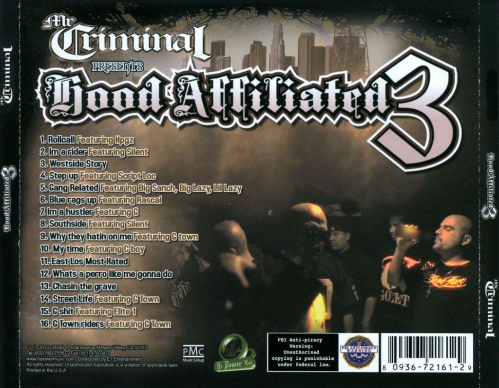 Mr. Criminal - Mr. Criminal Presents Hood Affiliated 3 (Back)