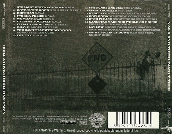 N.W.A. - N.W.A. And Their Family Tree (Back)
