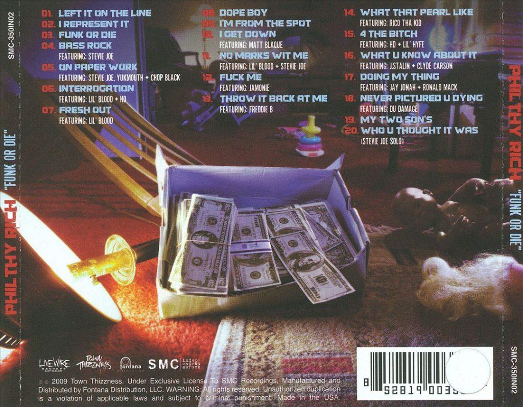 Philthy Rich - Funk Or Die (Back)