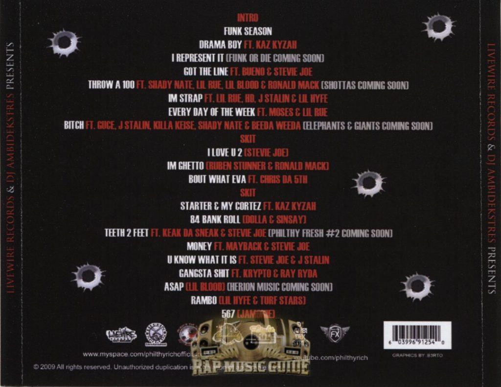 Philthy Rich - Funk Season (Back)