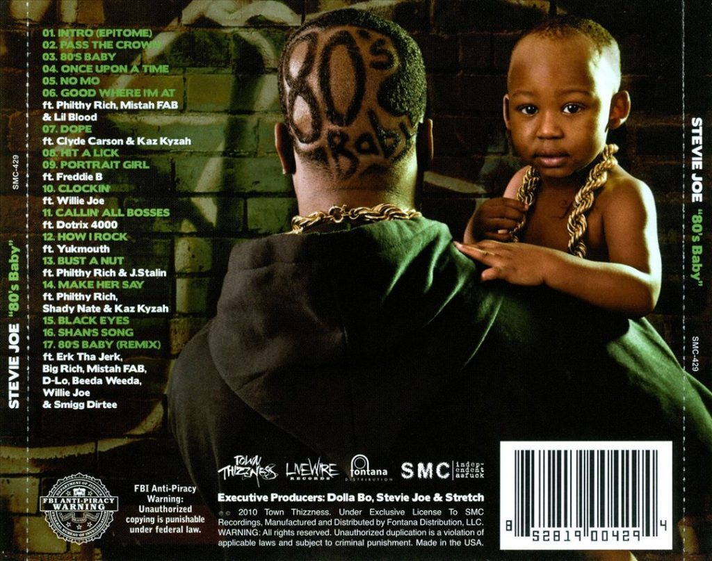 Stevie Joe - 80's Baby (Back)