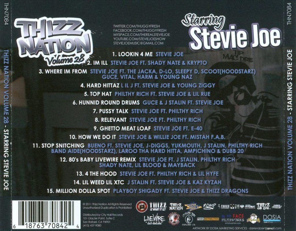 Stevie Joe - Thizz Nation, Vol. 28 Starring Stevie Joe.jpg (Back)
