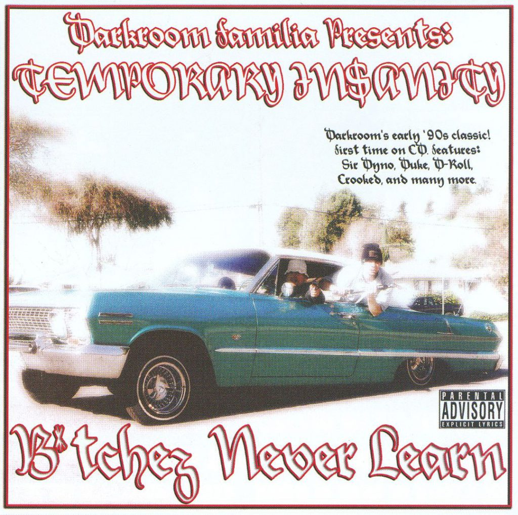 Temporary Insanity - Bitchez Never Learn (Front)