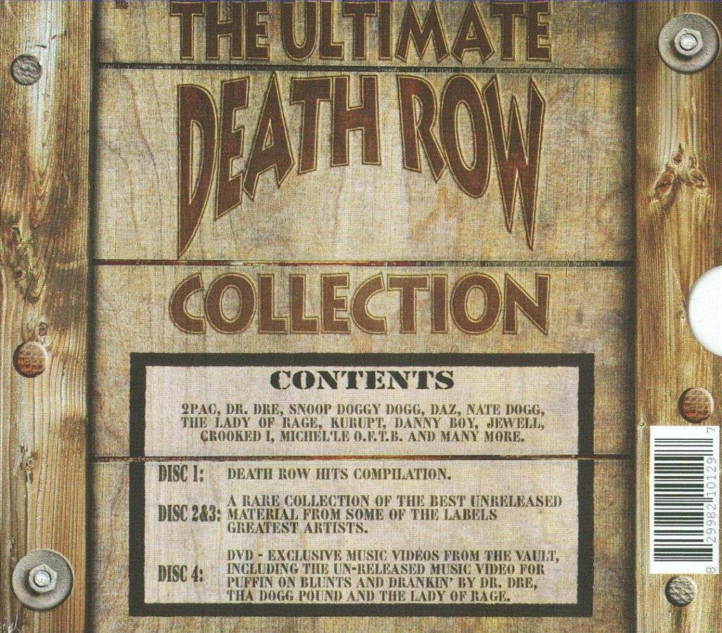 Various - The Ultimate Death Row Collection (Back)