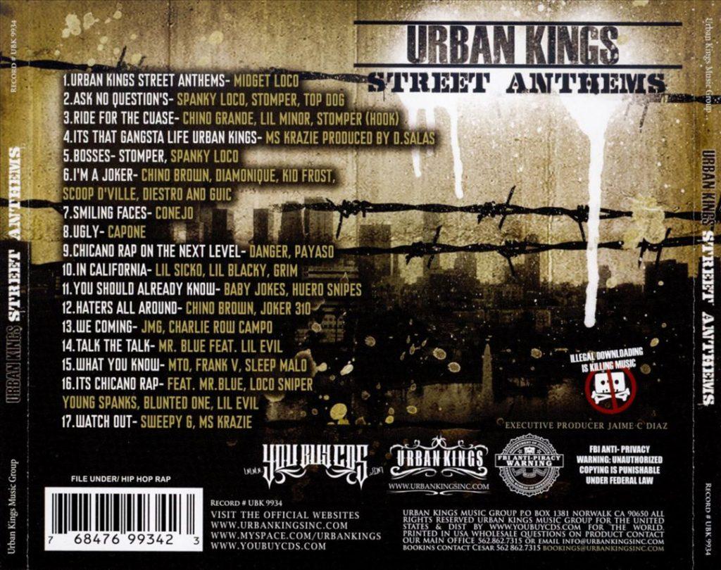 Various - Urban Kings Street Anthems (Back)
