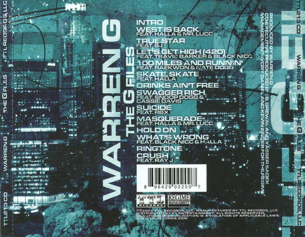 Warren G - The G Files (Back)